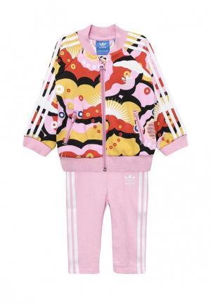 Костюм спортивный adidas Originals. Цвет: розовый