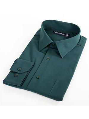 Рубашка Favourite. Цвет: темно-зеленый