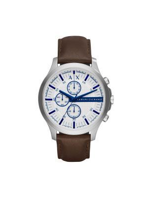 Часы Armani Exchange. Цвет: белый, коричневый, серебристый, синий