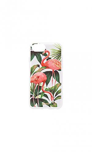 Чехол для iphone 7 flamingo garden Sonix. Цвет: розовый