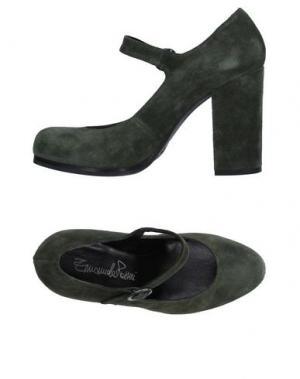 Туфли EMANUELA PASSERI. Цвет: зеленый