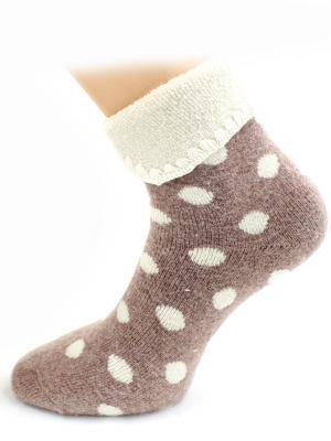 Носки шерстяные HOBBY LINE. Цвет: коричневый