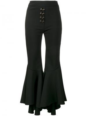 Укороченные расклешенные брюки Ellery. Цвет: чёрный