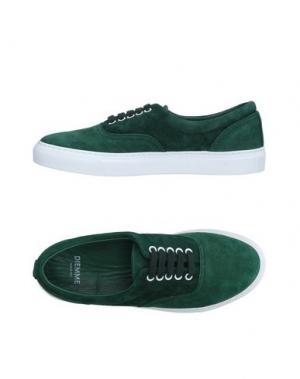 Низкие кеды и кроссовки DIEMME. Цвет: зеленый
