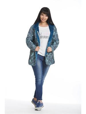 Куртка Пальмира Notte Bianca. Цвет: серо-голубой