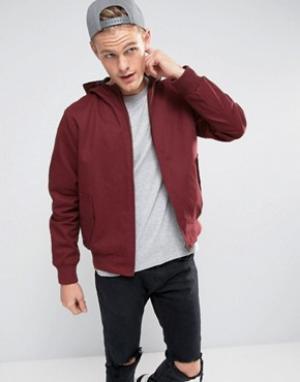 Tokyo Laundry Куртка из хлопковой саржи с капюшоном Landry. Цвет: красный