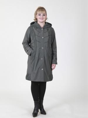 Пальто Млада VIKO. Цвет: серо-зеленый