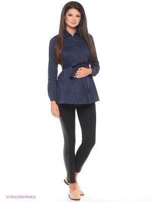 Блузка для беременных 40 недель. Цвет: темно-синий