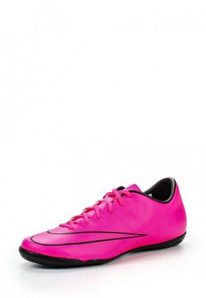 Бутсы зальные Nike. Цвет: фуксия