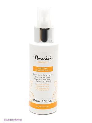 Освежающий тоник-спрей  для сухой кожи лица Nourish Protect Cooling Toning Mist, 100 мл. Цвет: прозрачный