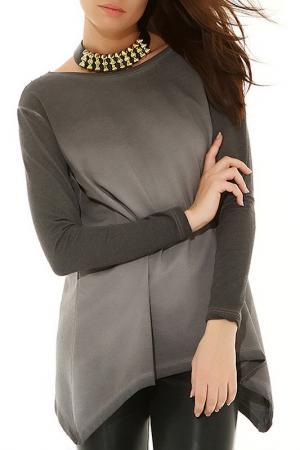 Блуза BSL FASHION. Цвет: серый