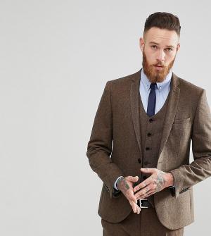 Heart & Dagger Приталенный пиджак из донегаля. Цвет: коричневый