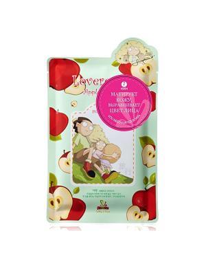 Маска для лица с экстрактом яблока Sally's box. Цвет: светло-зеленый