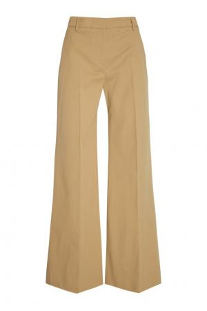 Широкие брюки из хлопка Burberry. Цвет: бежевый