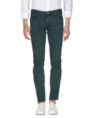Джинсовые брюки B SETTECENTO. Цвет: темно-зеленый