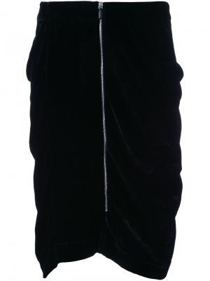 Юбка Sodi со сборками Nehera. Цвет: чёрный