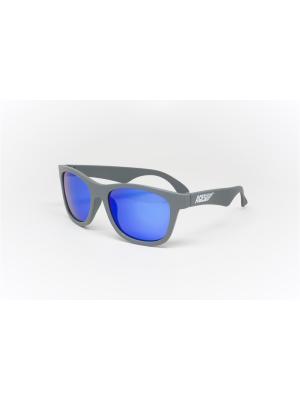 Солнцезащитные очки Babiators Aces Navigators. Галактика (Galactic). Серый, синие зеркальные линзы. Цвет: серый