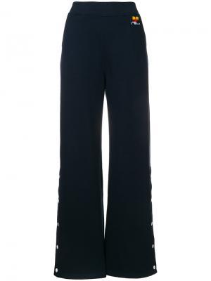 Расклешенные брюки Courrèges. Цвет: синий