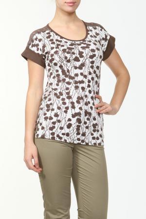 Блузка Camelia. Цвет: коричневый