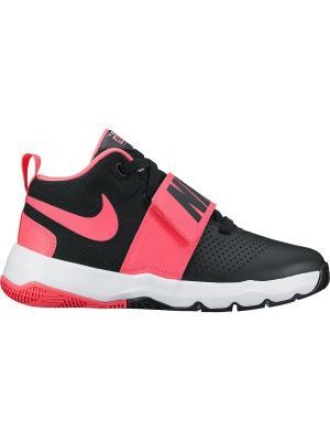 Кроссовки NIKE TEAM HUSTLE D 8 (GS). Цвет: черный, розовый
