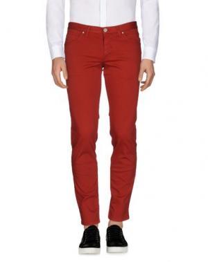 Повседневные брюки ALV ANDARE LONTANO VIAGGIANDO. Цвет: кирпично-красный