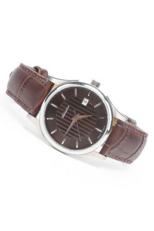 Часы наручные Adriatica. Цвет: шоколад, стальной