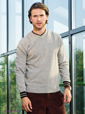 Пуловер Urban fashion for men. Цвет: бежевый