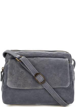 Маленькая сумка с двумя отделами Bruno Rossi. Цвет: синий