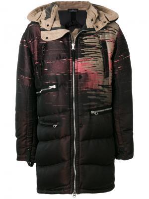 Куртка-пуховик на молнии Stone Island Shadow Project. Цвет: розовый и фиолетовый