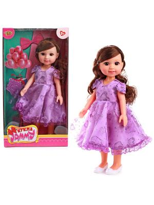 Кукла 31 см VELD-CO. Цвет: сиреневый, белый