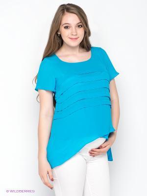 Блузка Gemko. Цвет: голубой