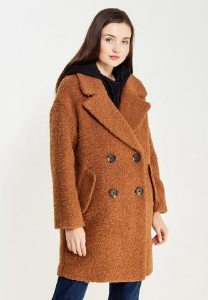 Пальто Topshop. Цвет: коричневый