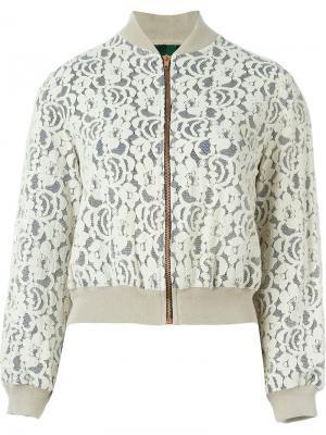 Кружевная куртка-бомбер Jean Paul Gaultier Vintage. Цвет: телесный