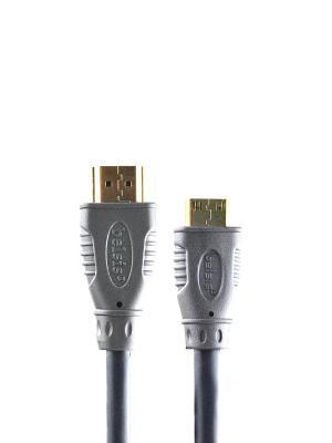 Кабель HDMI вилка - mini вилка, GOLD, 1.8 м. Belsis. Цвет: серый