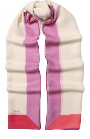 Шаль Stola LInfinito из смеси кашемира и шелка Loro Piana. Цвет: розовый