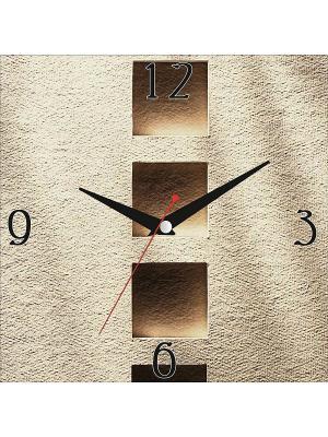 Картина стеновая с часовым механизмом 400*400мм ДСТ. Цвет: коричневый