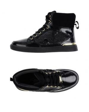 Высокие кеды и кроссовки GATTINONI. Цвет: черный