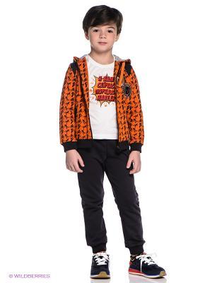 Спортивный костюм Oldos. Цвет: антрацитовый, рыжий