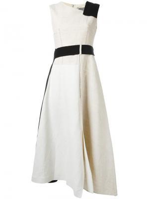 Платье с контрастной отделкой Sportmax. Цвет: телесный