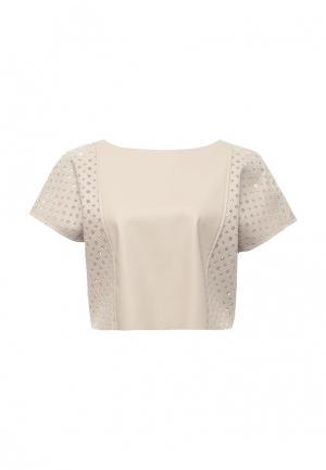 Блуза Please. Цвет: бежевый