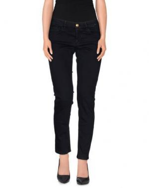 Повседневные брюки MONOCROM. Цвет: темно-синий