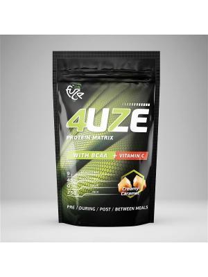Протеин Фьюз + BCAA (сливочная карамель), 750 г 4UZE. Цвет: черный, белый