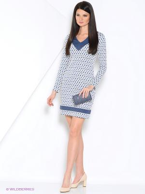 Платье GiuliaRossi. Цвет: бирюзовый, белый