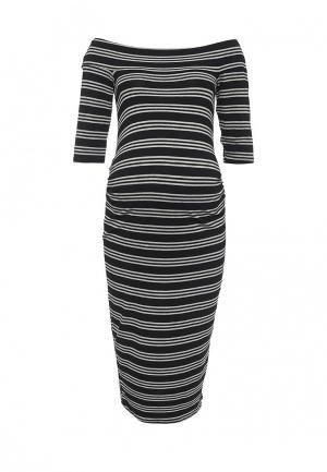 Платье Dorothy Perkins Maternity. Цвет: черный