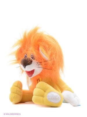 Мягкая игрушка Мульти-ПультиЛьвенок и Черепаха. Львенок, озвученный русский чип 20см Мульти-пульти. Цвет: оранжевый, желтый
