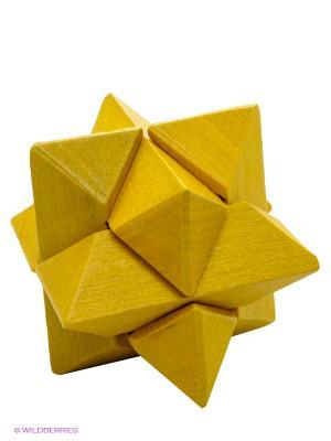 Деревянная игрушка - головоломка Звезда FRIDOLIN. Цвет: желтый