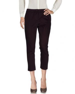 Повседневные брюки TOLÈRANCE. Цвет: баклажанный
