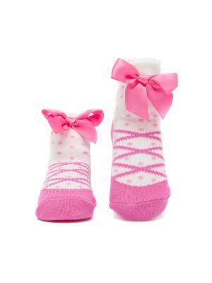 Носочки Пуанты малиновые Pretty Fashion Baby. Цвет: малиновый