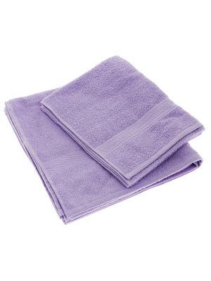 Махровое полотенце сиреневый 50*90-100% хлопок, УзТ-ПМ-112-08-05 Aisha. Цвет: сиреневый