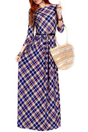 Платье FRANCESCA LUCINI. Цвет: клетка, экрю